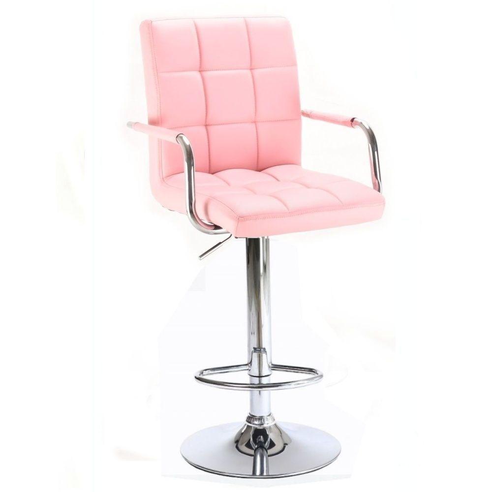 Barová židle s područkami 1015wp růžová