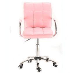 Kosmetická židle na kolečkách HC-1015KP růžová