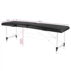 Skládací masážní stůl KOMFORT 2 - černý
