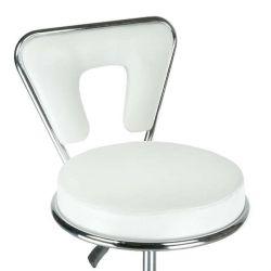 Kosmetická židle AUSTIN na podstavě s kolečky bílá