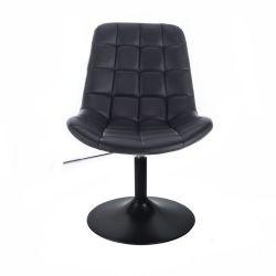 Kosmetická židle PARIS na černém talíři - černá