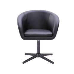 Kosmetická židle VENICE na černém kříži - černá