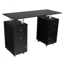 Kosmetický stolek GLASS 317 černý