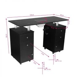Kosmetický stolek GLASS 317 s pohlcovačem - černý