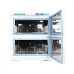 Ohřívač ručníků s UV- C sterilizátorem 32 l - dvojitý bílý