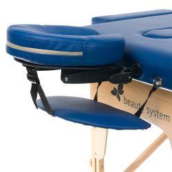 Masážní a rehabilitační skládací stůl BS-523 - modrý