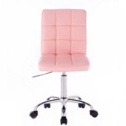Kosmetická židle TOLEDO na podstavě s kolečky růžová