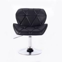 Kosmetická židle HC-111N na kulaté podstavě, černá