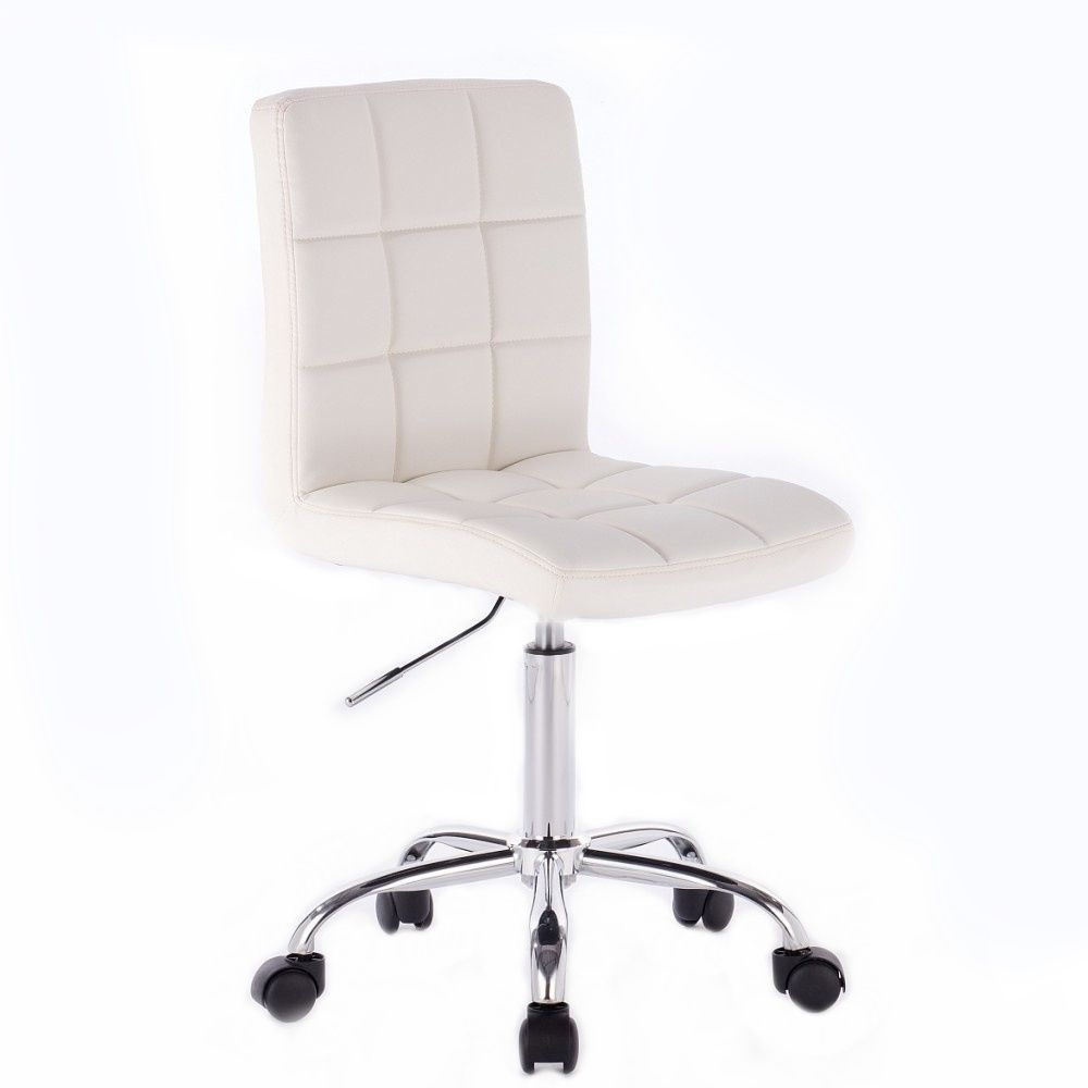 Kosmetická židle na kolečkách HC1015K bílá