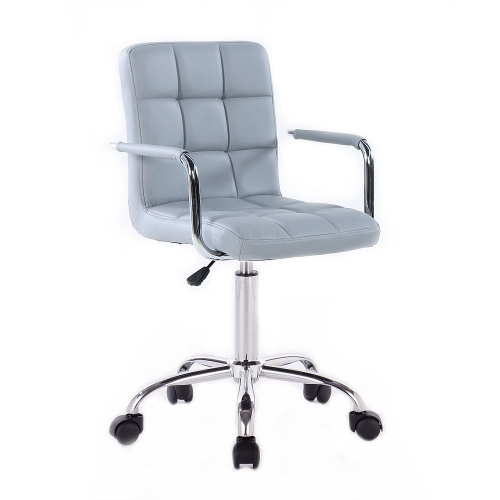 Kosmetická židle na podstavě s kolečky HC-1015KP šedá