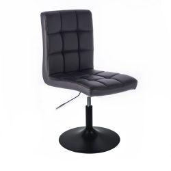Kosmetická židle TOLEDO na černém talíři - černá