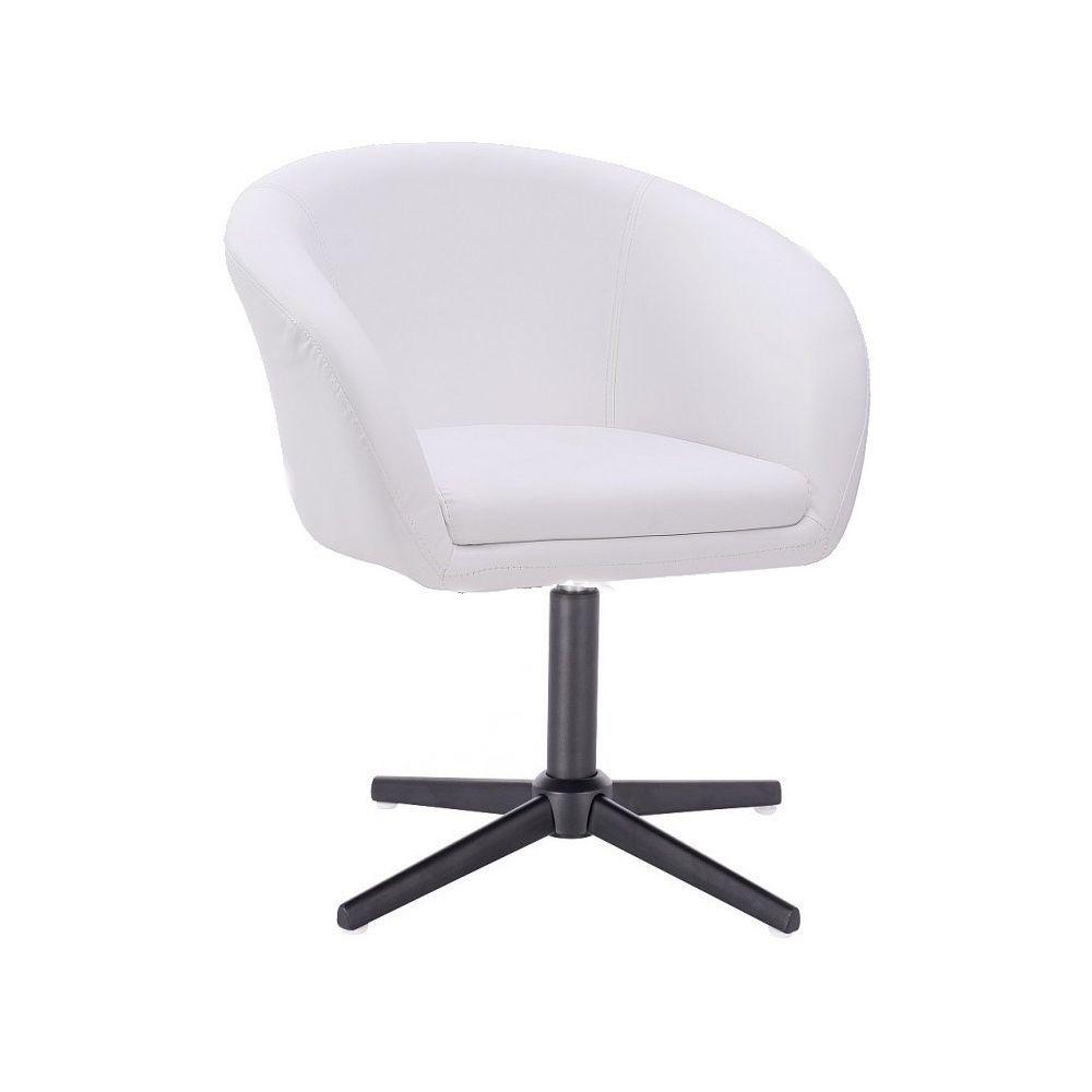 Kosmetická židle VENICE na černém kříži - bílá