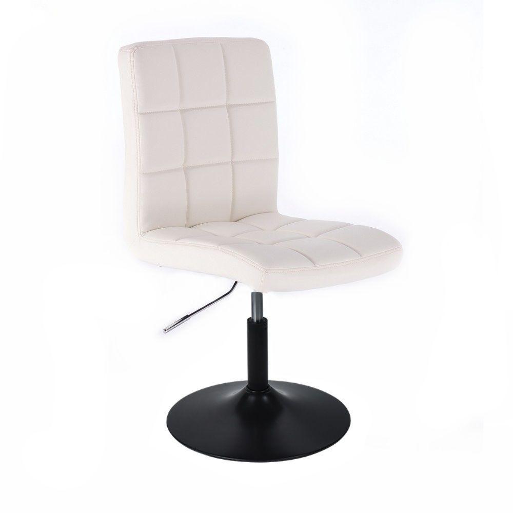 Kosmetická židle HC1015 na černém talíři - bílá