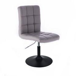 Kosmetická židle HC1015 na černém talíři - šedá